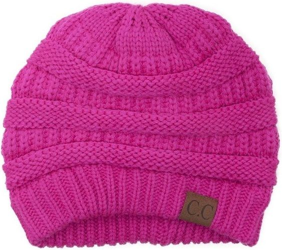 98f8b575ae2ea LUXURY DIVAS - THICK - SLOUCHY - KNIT - OVERSIZED - BEANIE   CAP   HAT --  HOT PINK