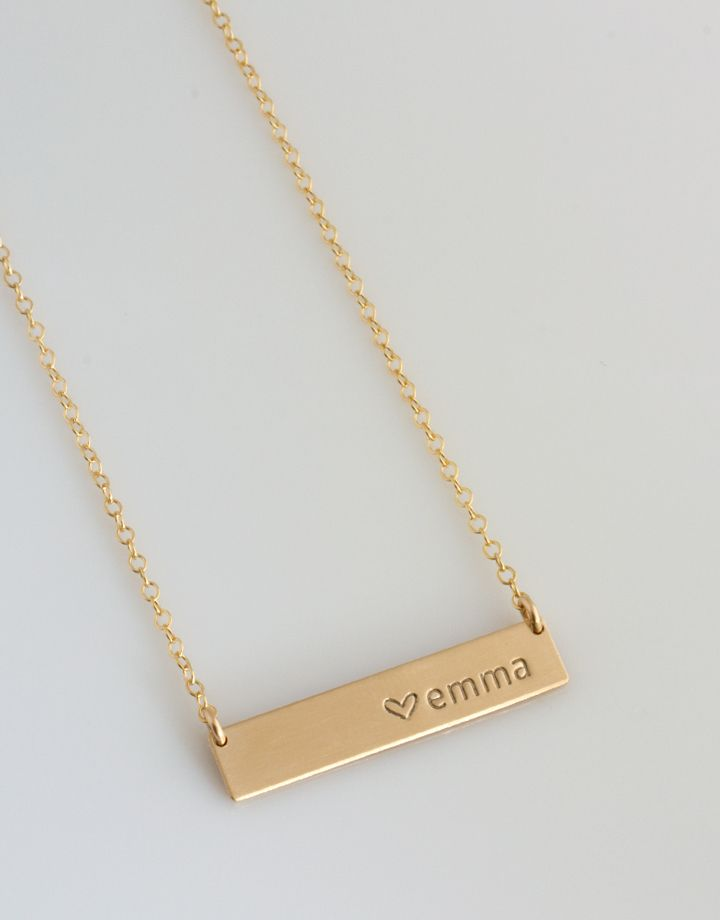 Personalized Bar Necklace Personalized Nameplate Necklace Gold Bar Necklace For H Bar Necklace Personalized Personalized Nameplate Necklace Gold Bar Necklace