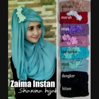 Jilbab Sifon Ceruti Zaima Instan Grosir Jilbab Modern Sifon Kerudung Hoodie