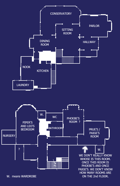The Blueprint Of Charmed House   Halliwell Manor Charmed House Blueprint