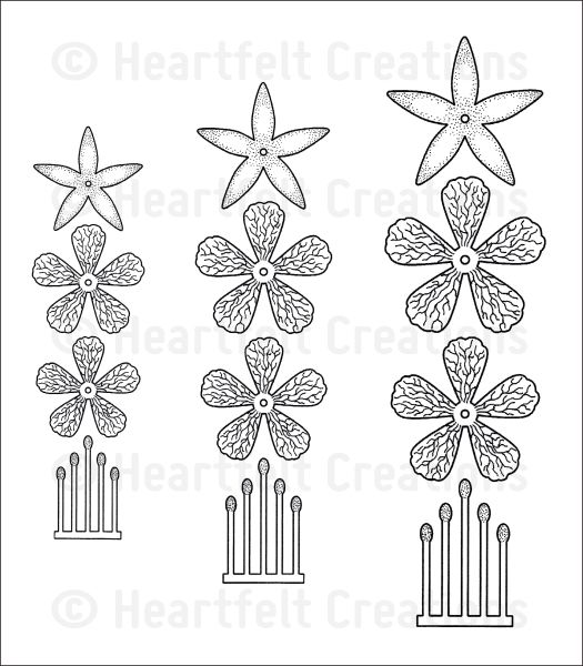 cascading fuchsia cling stamp set click to enlarge