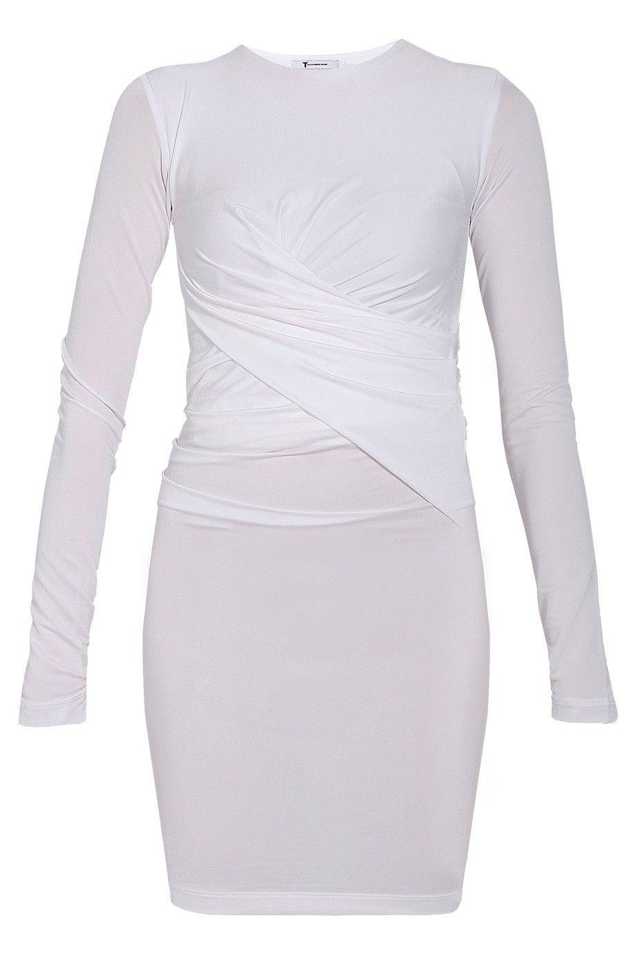 Pique Mesh Twist Dress By T BY ALEXANDER WANG @ http://www.boutique1.com/