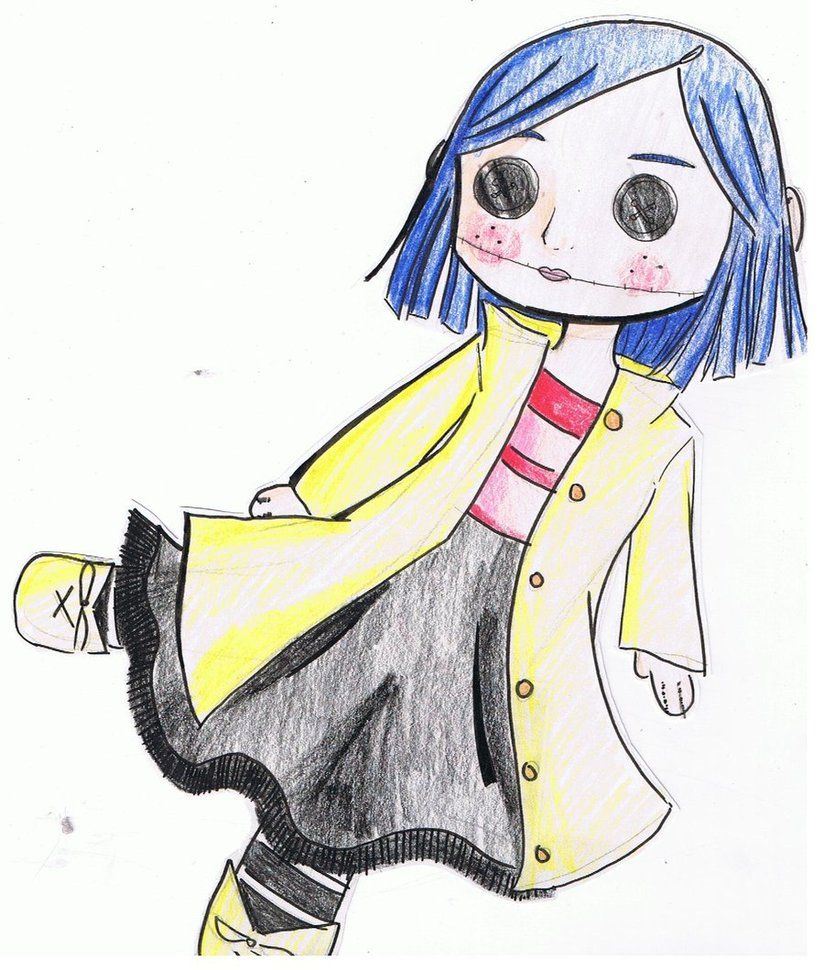 Creepy Easy Coraline Drawings