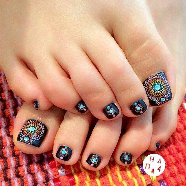 Instagram media hana4 #nail #nails #nailart | Toe Nail Art ...