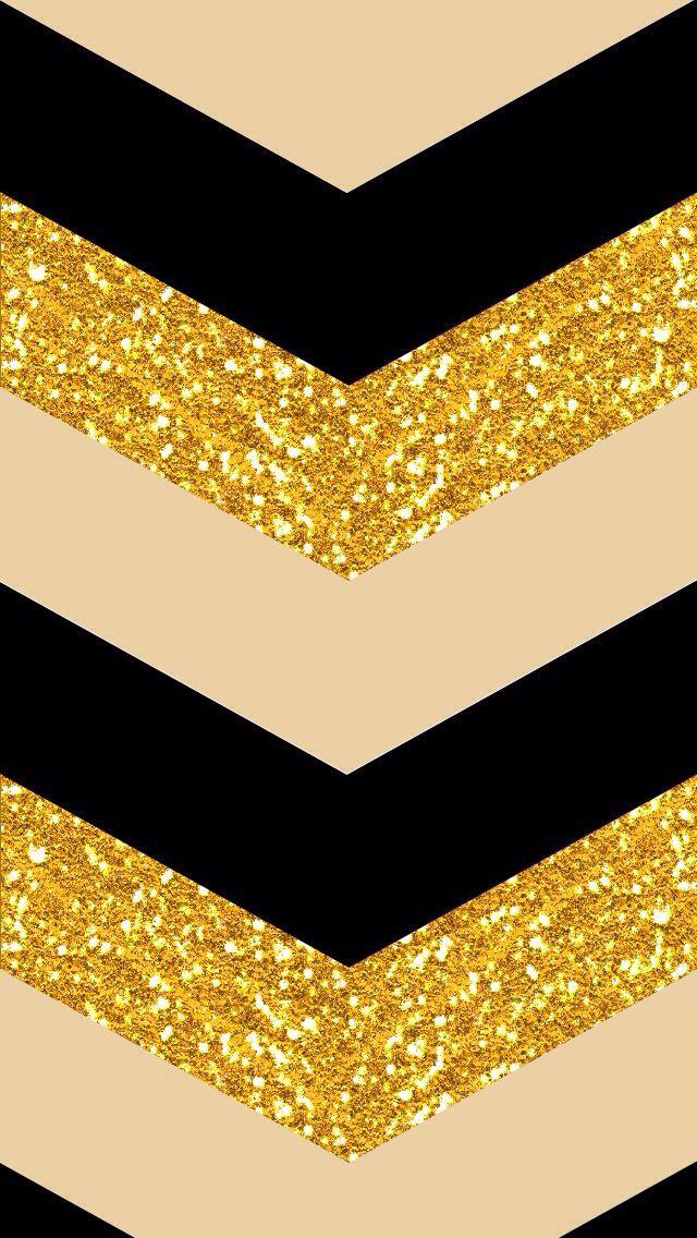 Gold Chevron IPhone Background