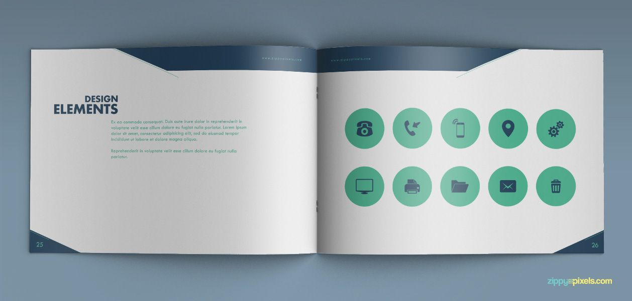 Present Not Only Your Logo Design But The Whole Brand Identity Of Your  Client With This Creative Brand Guideline Template. It Is Available In  Illustrator, ...  Manual Design Templates
