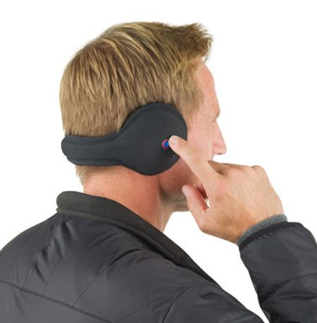 Wireless Headphone Ear Warmers - Not only does each pair ensure that your ears remain nice, warm and functional even when it has snowed a foot thick overnight and the winter wind has not stopped blowing, but it will also be able to hook up to any Android, iOS or Windows Phone-powered device via Bluetooth connectivity to deliver your favorite tunes directly into your auditory canal. | Coolest Gadgets