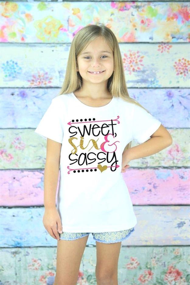 Stunning Six Glitter #Birthday T-Shirt Graphics are