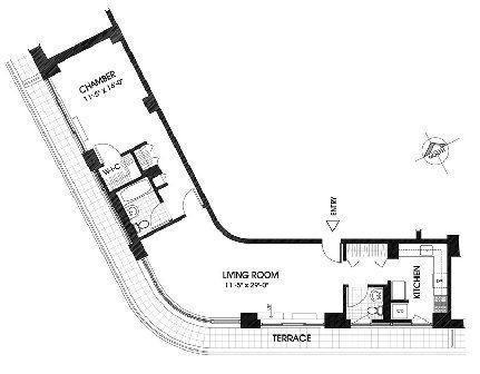 unusual Floor Plans | Penthouses with Unique Floorplan in the Upper ...