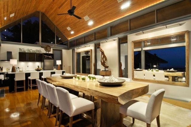 Loft Stil Exotische Möbel Edelstahl Küche Satteldach Villa Chan Grajang