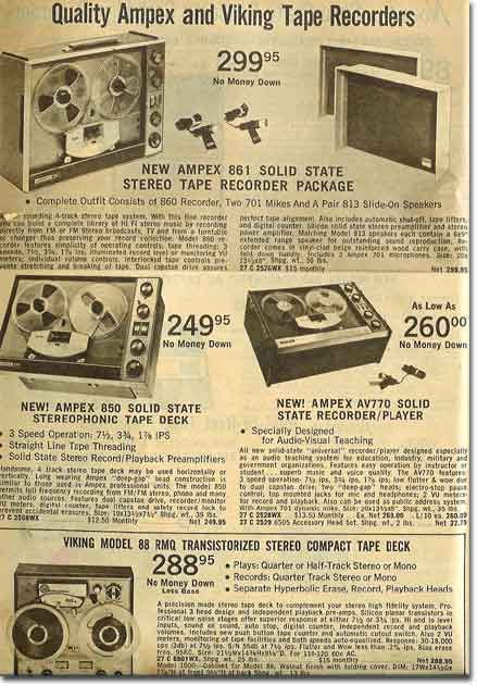 Picture Of Tape Recorders In The 1967 Annual Lafayette Radio
