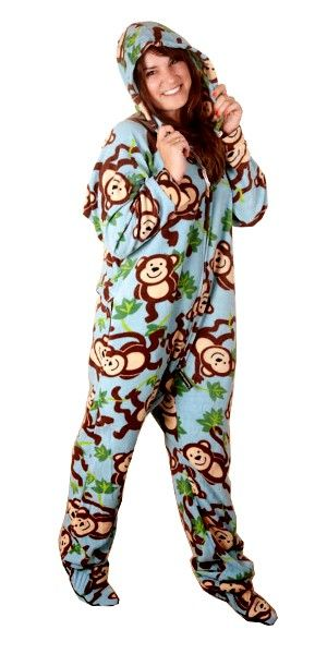 For Onesie monkey pajamas adults
