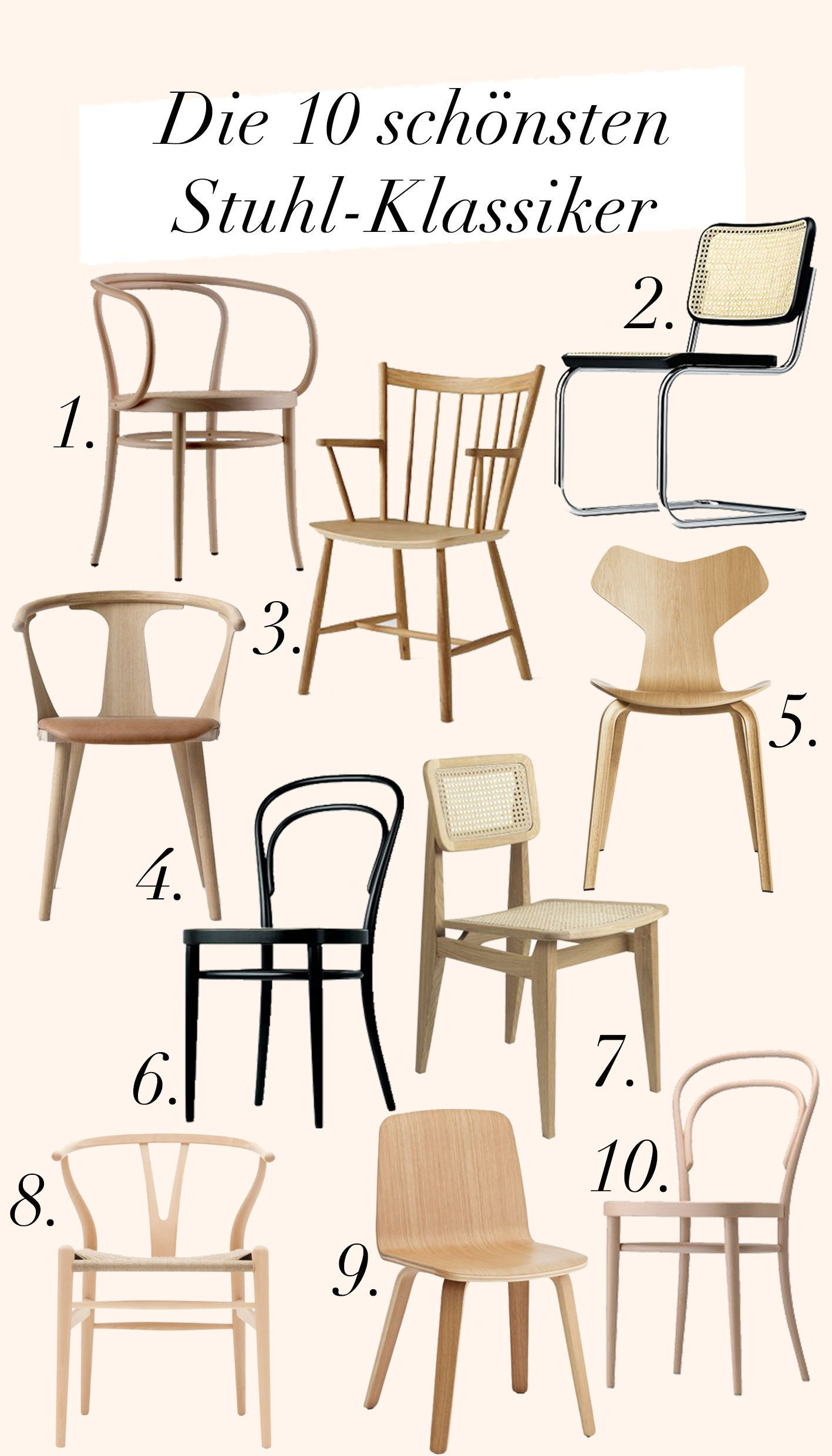 Photo of TOP10 of the most beautiful chairs: The classics – Journelles
