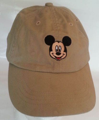 toddler mickey mouse baseball cap face embroidered tan adjustable hat white for toddlers with sunglasses