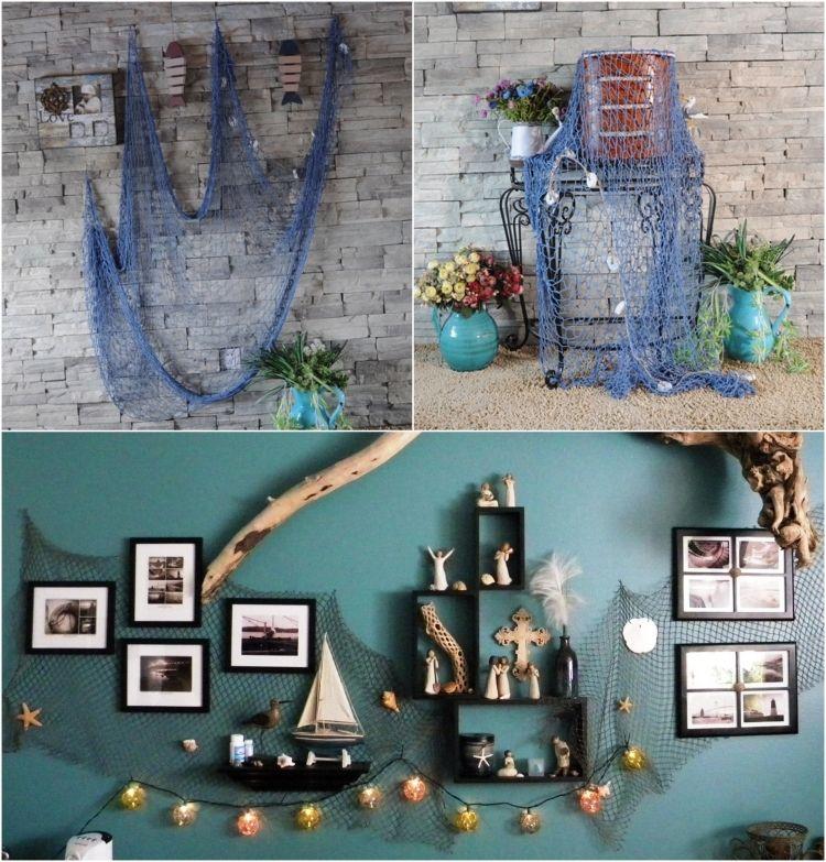 fischernetz deko bringt eine maritime stimmung ins haus aufbewahrung fischernetz deko. Black Bedroom Furniture Sets. Home Design Ideas