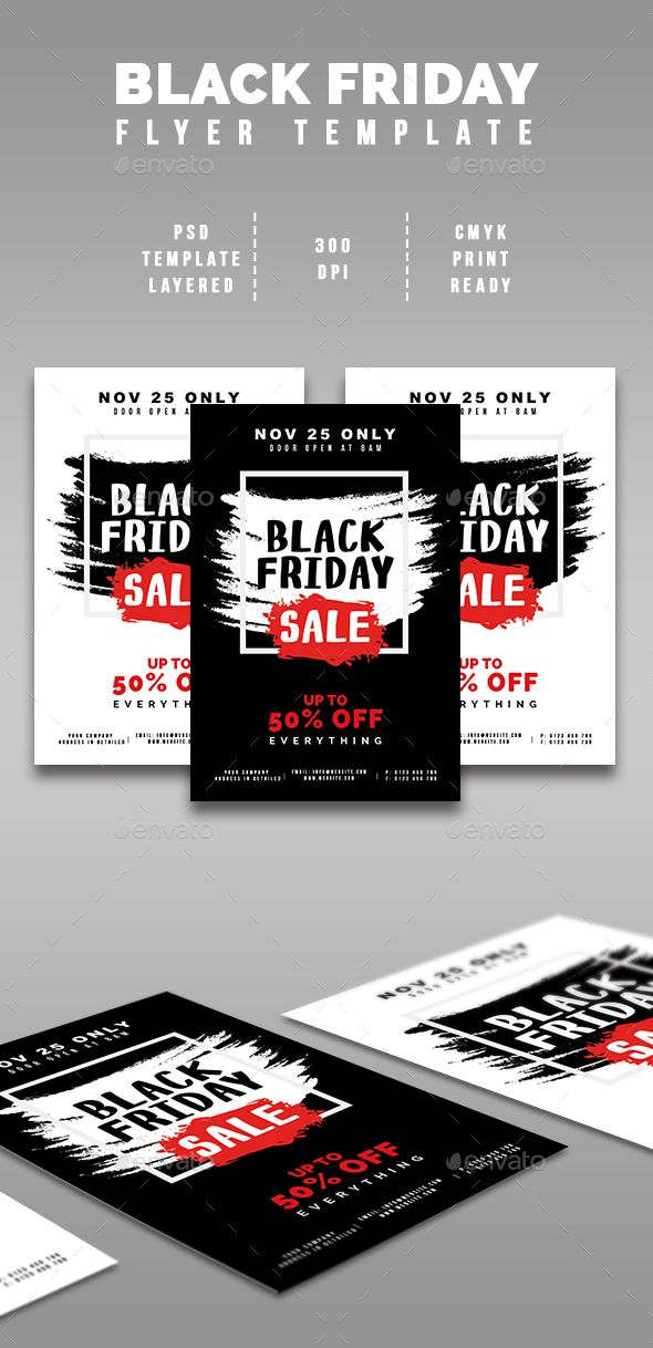 Black Friday Sale Flyer Flyer template, Fonts and Typography design