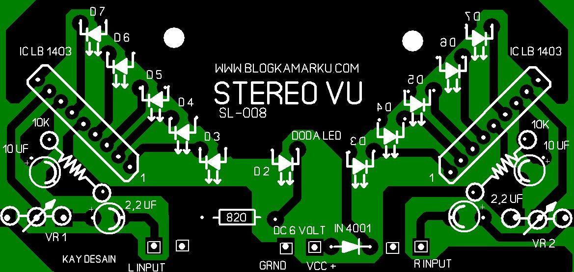 Skema Rangkaian Led Vu Display Pcb Blogkamarku Com Display Mixer Audio Led