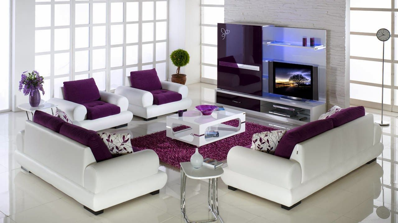 Purple sofa living room ideas - 17 Best Images About Purple Living Family Room On