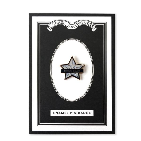 Rock Star Enameled Pin Badge in 2019 | Father's Day Gift