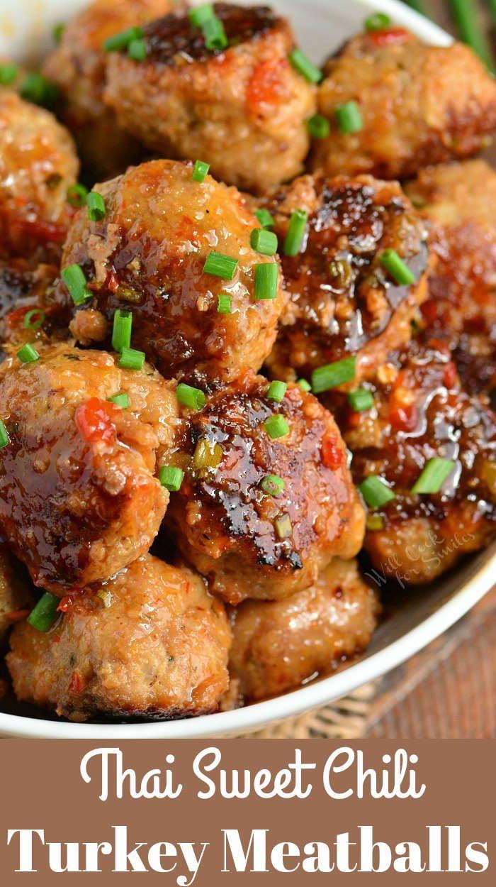 Photo of Thai Sweet Chili Turkey Meatballs