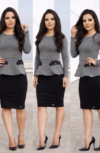 8ff4c430ad EXECUTIVA - Floratta Modas | Moda | Vestidos trabalho, Moda e Looks ...