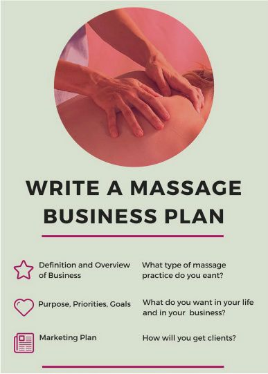 How To Write A Massage Therapy Business Plan  Relax With A