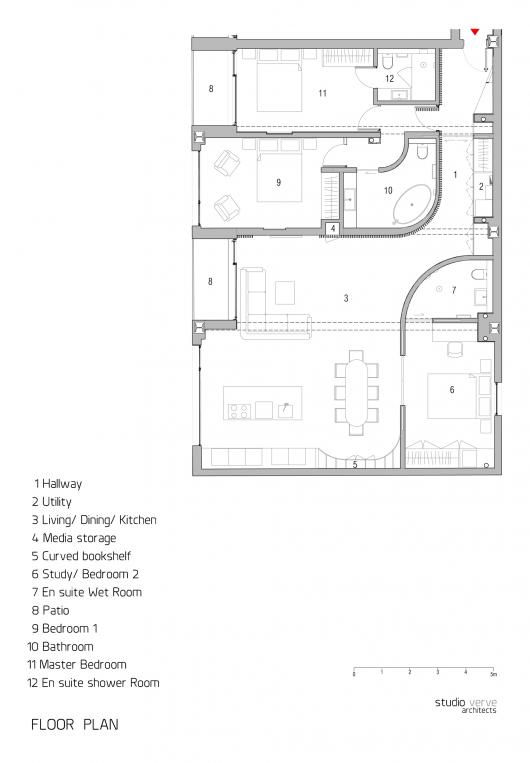 redchurch loft apartment    studio verve architects