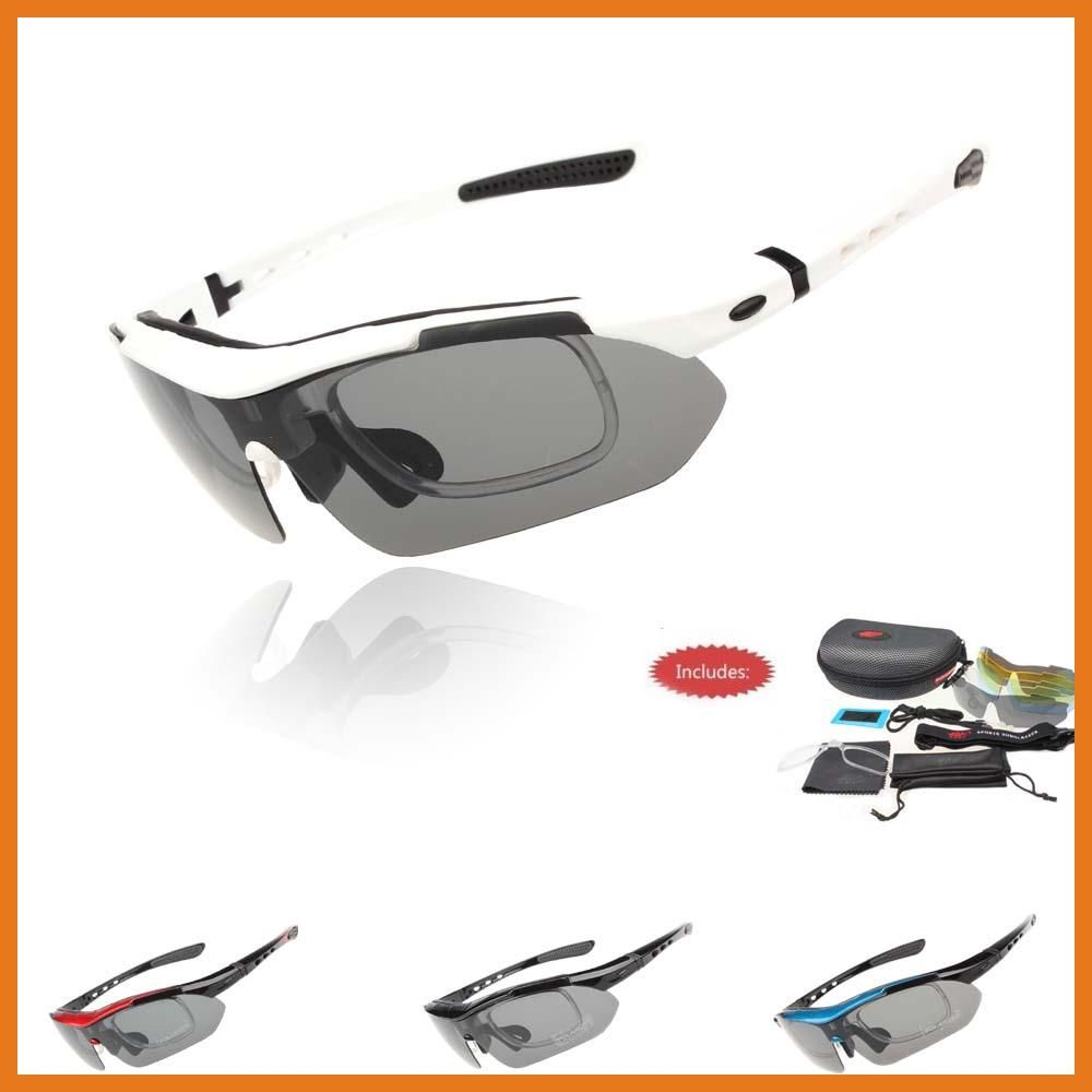 New Bike Professional Polarized Cycling Glasses Sports Sunglasses UV400 5 Lens