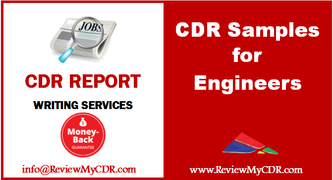 Cdr Samples For Engineering Disciplines Are Available At Very