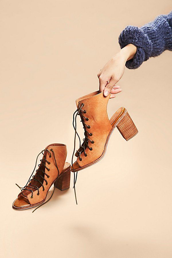 Minimal Lace Up Heel by Jeffrey Campbell at Free People