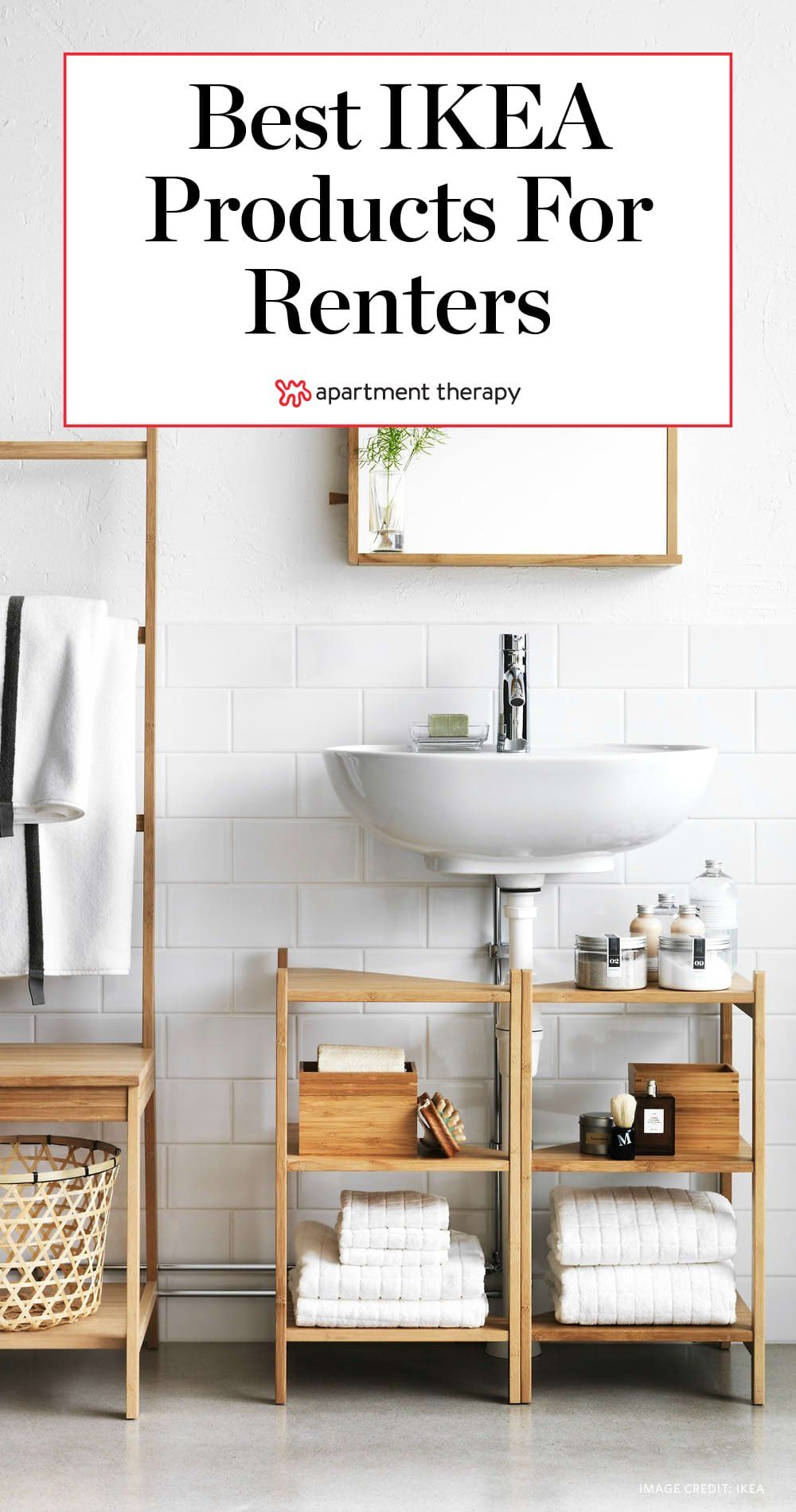 11 Ikea Products Every Renter Should Know About Small Bathroom Furniture Space Saving Bathroom Small Bathroom Storage