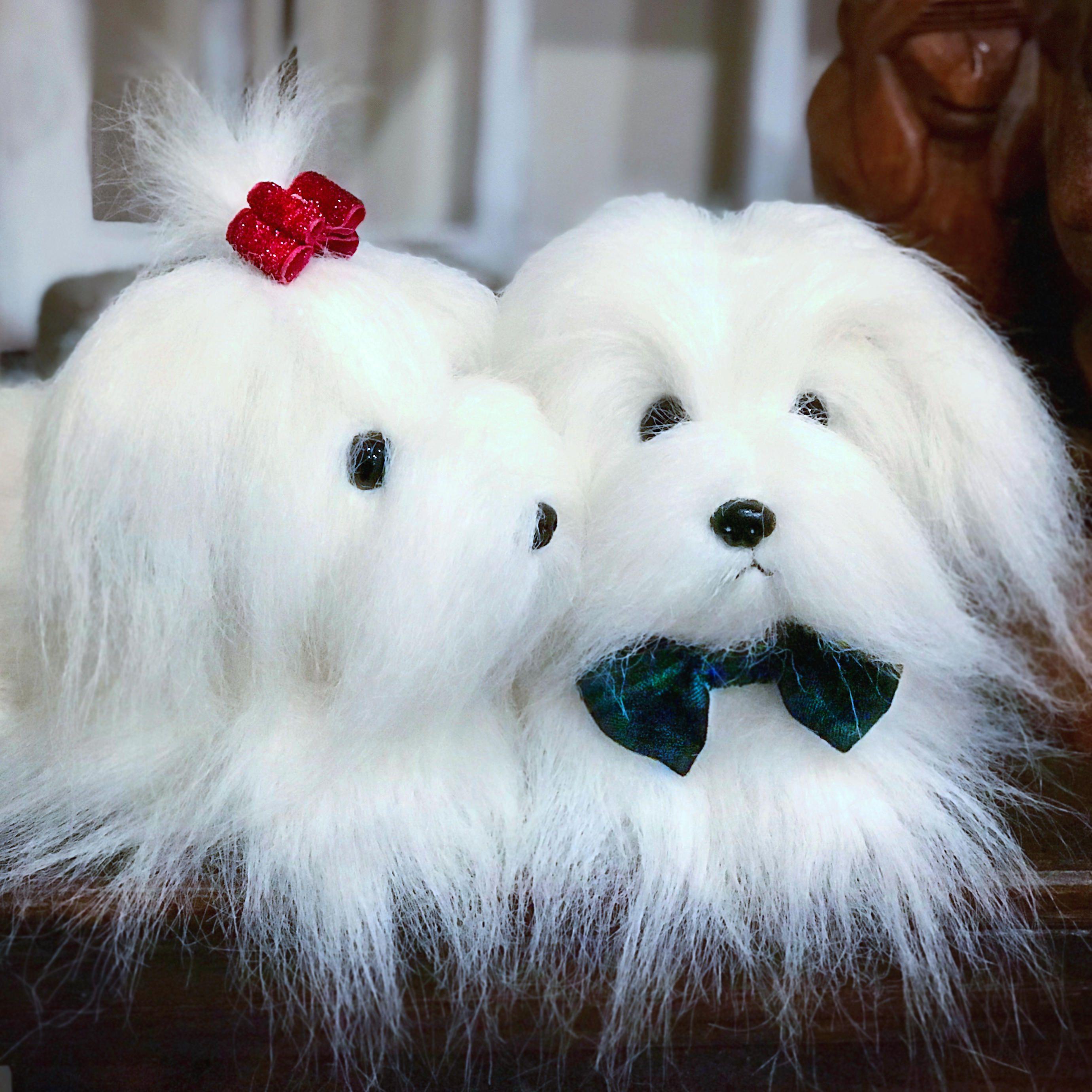 Maltese Coton De Tulear Havanese Stuffed Dog Stuffed Animal