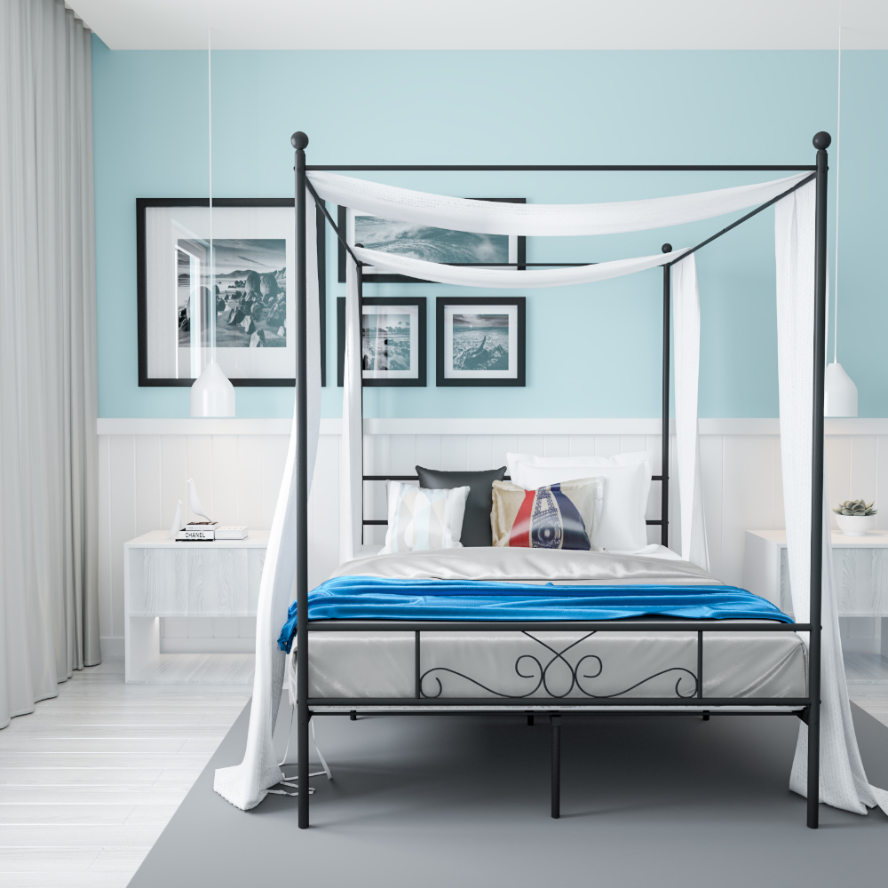 Home Canopy Bed Frame Unique Bed Frames Metal Canopy Bed