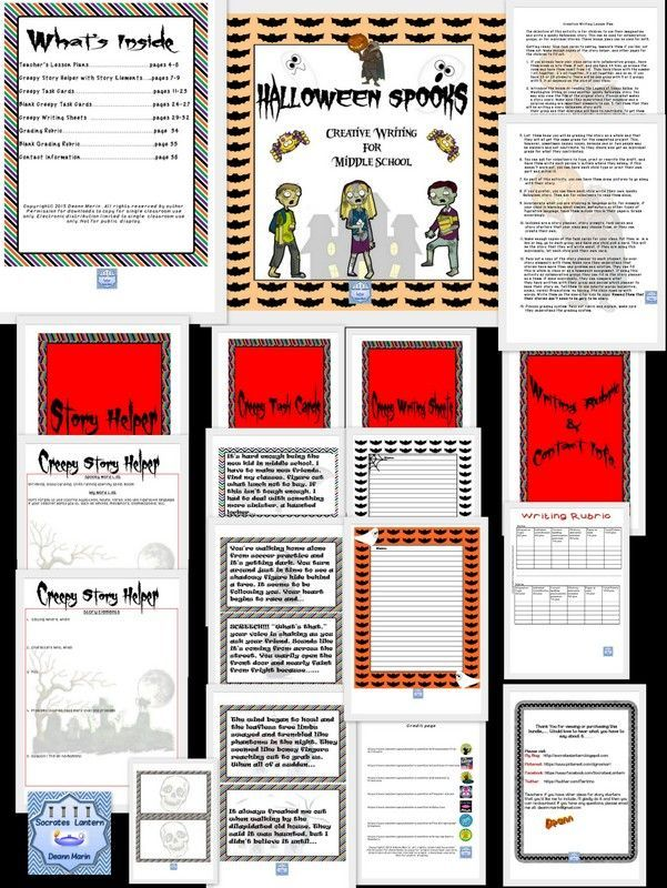 best Educational Freebies images on Pinterest   Student     Pinterest Halloween Writing Prompts  For kindergarten  st   nd grade