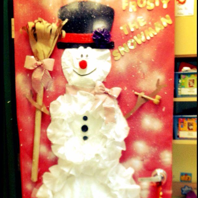 Frosty the snowman, door decorating Door Decorating Contest