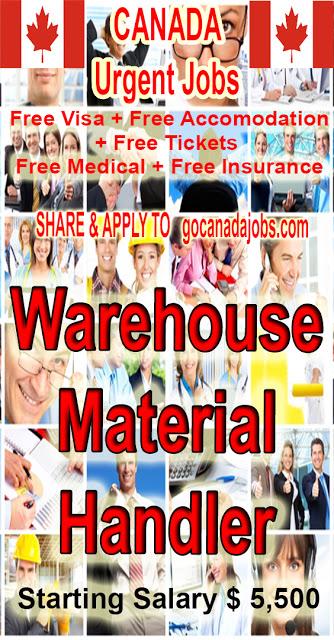 Warehouse Material Handler Jobs Career Hiring In Canada Flexible