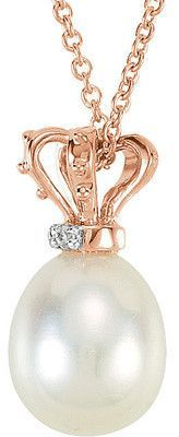 Regal Genuine Gemstone Pearl Pendant for SALE at BitCoin Gems