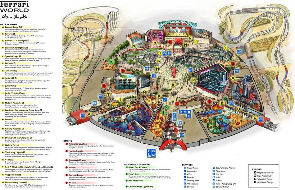 Ferrari World Map.Ferrari World Abu Dhabi Map Abu Dhabi United Arab Emirates Uae
