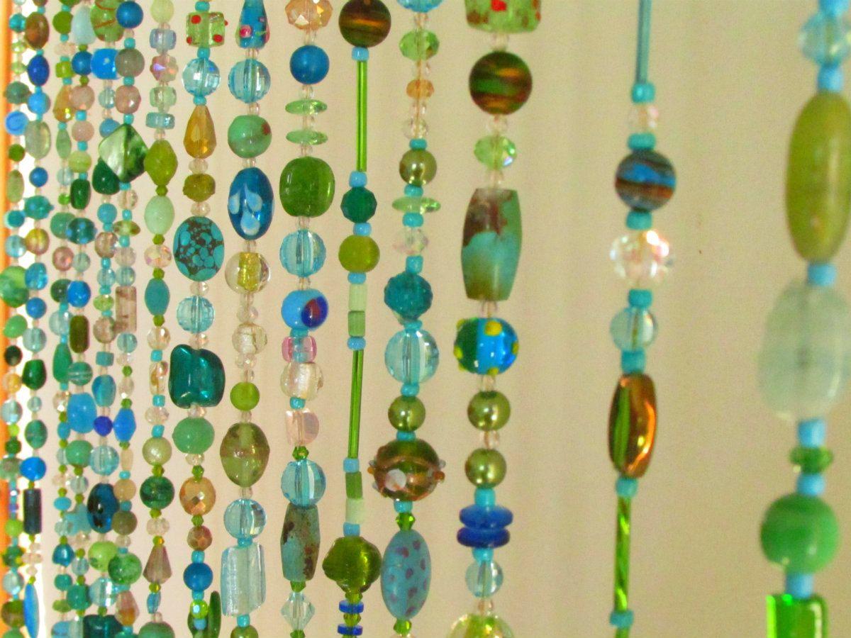 Beaded curtain Multicolor Glass Beaded Suncatcher- Window curtain ...