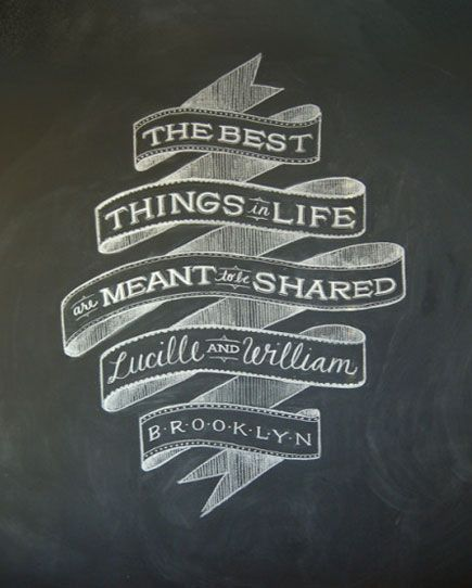 Dana Tanamachi chalkboard design Idea for slogan and brush ...