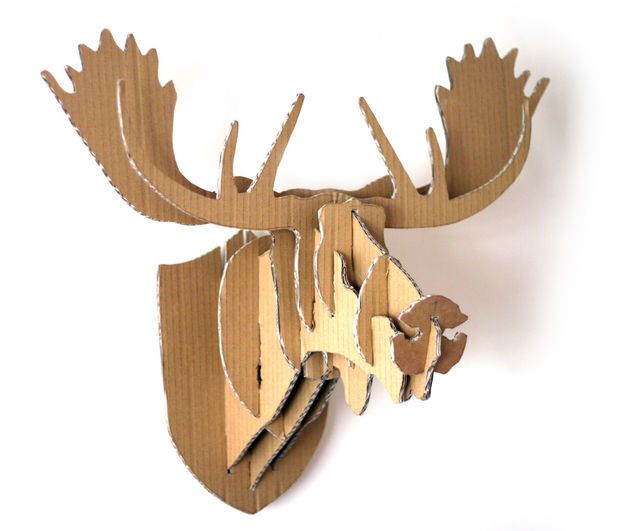 Cardboard Box Moose Head Wall Hanging Moose Head Cardboard Boxes And Moose