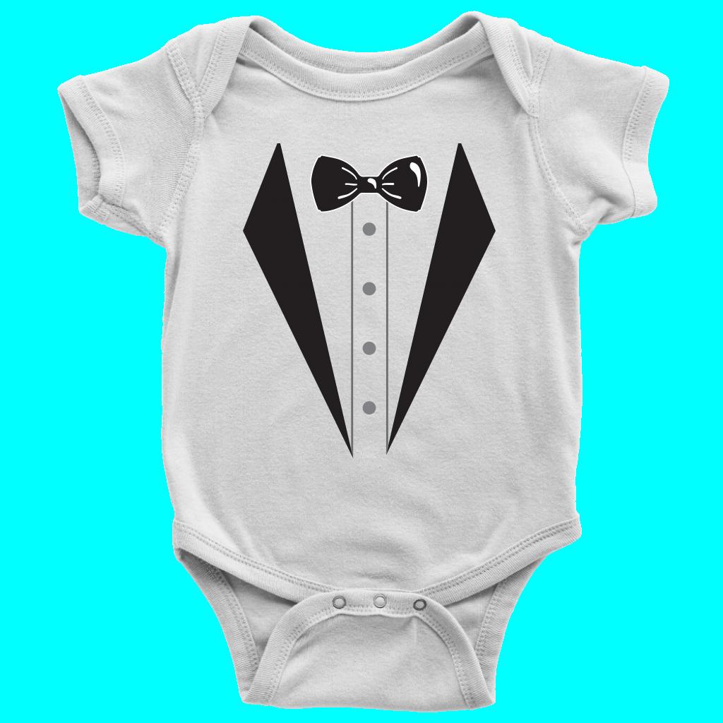 15d2fb4ac Sharp Dressed Baby - Tuxedo Baby Bodysuit | Onesies! | Baby tuxedo ...