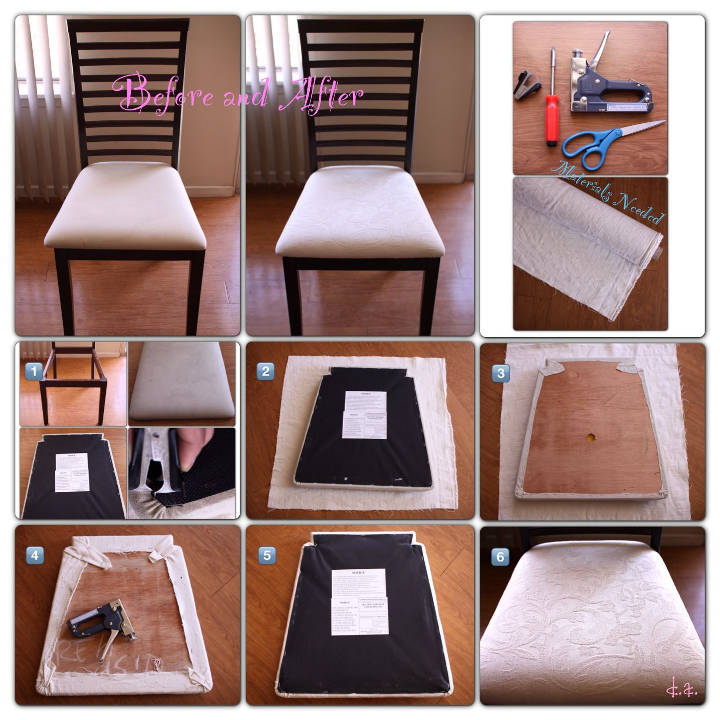 Reupholstered Dining Chair This Seems Easy Enough Just Do It