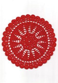 Natale rosso crochet Doily pizzo Pizzo DoiliO Decorazione