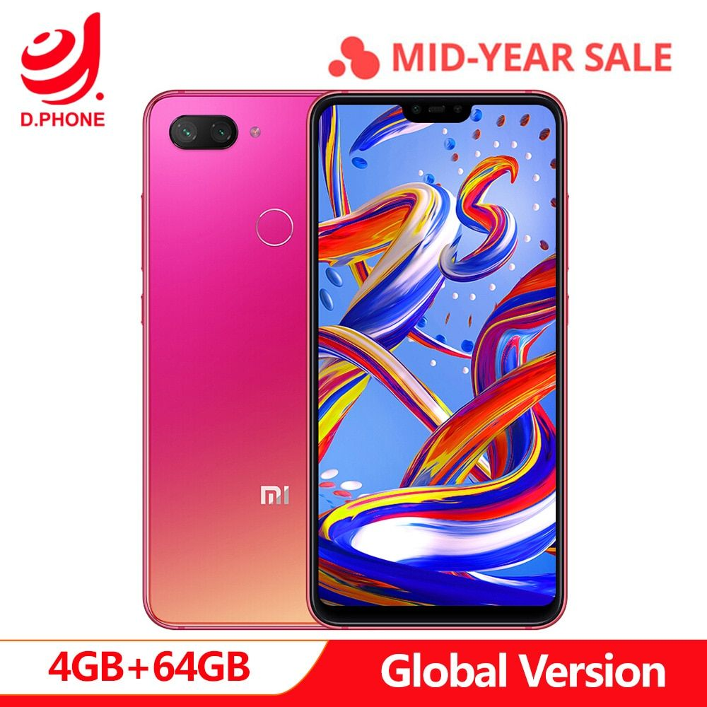 Original Global Version Xiaomi Mi 8 Lite 4gb 64gb 6 26 19 9 Full Screen Mi8 Lite Snapdragon 660aie Octa Core 24mp Front Camera Xiaomi 64gb Global