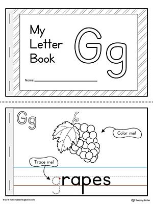 Letter G Mini Book Printable Letter G Activities Tracing Letters Preschool Kindergarten Letters