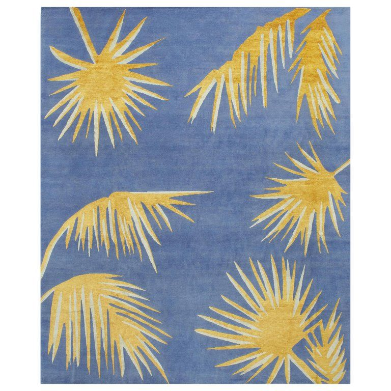 Golden Palms Rug By Ilaria Ferraro Golden Palm Rugs Red Wool Rug