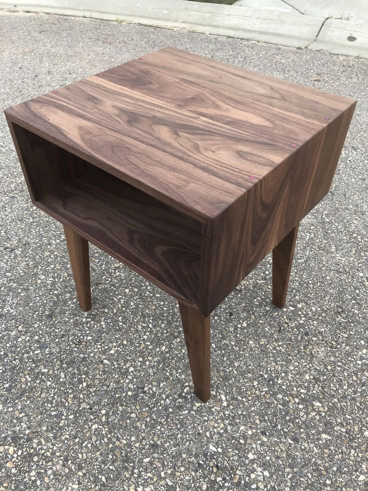 Mid century modern side table I made. Continuous grain ...