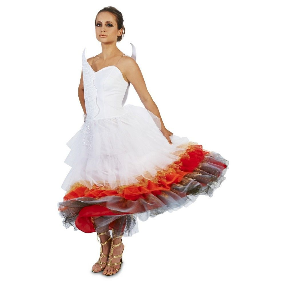 Wedding dress on fire costume small multicolored costumes