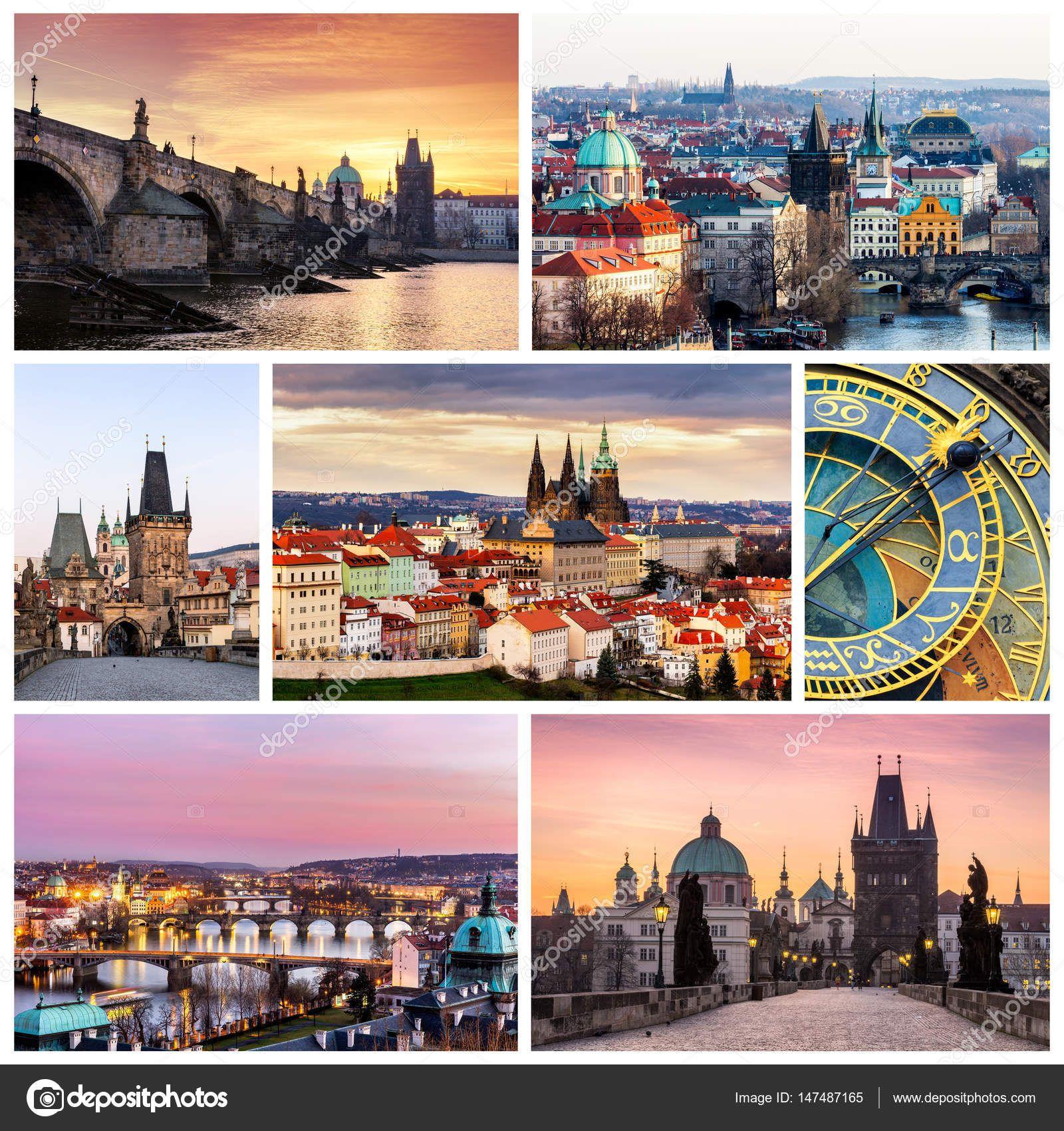 Stahnout Fotograficke Kolaze Z Prahy Ceska Republika Kolaz